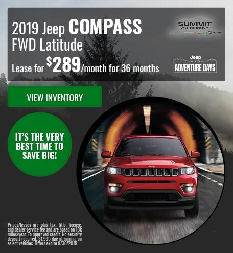 September 2019 Jeep Compass FWD Latitude