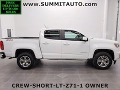 used 2018 Chevrolet Colorado CREW-SHORT-Z71-4WD-HEATED SEATS-BACKUP CAM-1 OWNE Crew Cab Pickup for sale in wisconsin