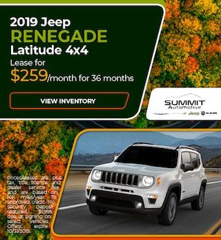 October 2019 Jeep Renegade Latitude 4x4