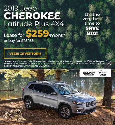 July 2019 Jeep Cherokee Latitude
