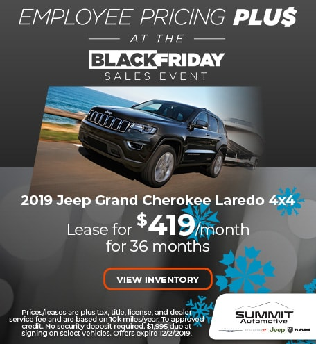 November 2019 Jeep Grand Cherokee Laredo 4x4