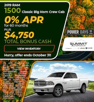 October 2019 RAM Classic Big Horn Crew Cab
