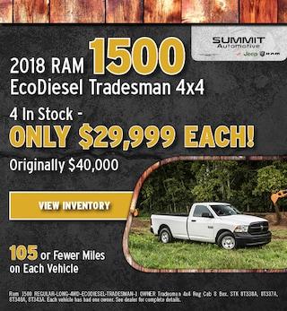 October 2018 RAM 1500 EcoDiesel Tradesman 4x4