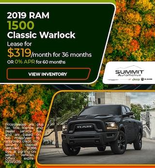 October 2019 RAM 1500 Classic Warlock