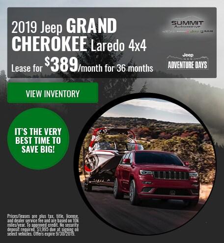 September 2019 Jeep Grand Cherokee Laredo 4x4
