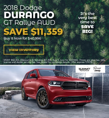 July 2018 Dodge Durango