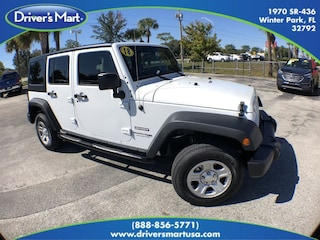 Used Vehicle for sale 2018 Jeep Wrangler JK Unlimited Sport 4x4 Convertible in Winter Park near Sanford FL