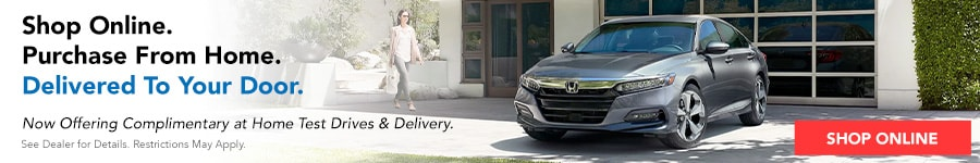 Now offering complimentary at home test drives and delivery.