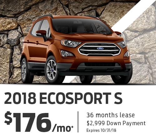 Ford EcoSport Lease For $176/mo Holman Ford Lincoln Maple Shade Lease
