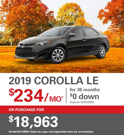 Lease A Toyota Corolla: 2019 Toyota Corolla Hatchback Lease Deal 159 Per Month For