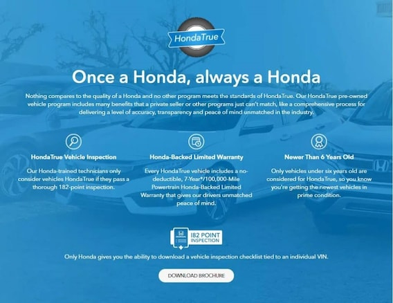 Why Certified Pre Owned Holmes Honda