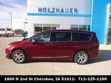 Featured pre-owned vehicles 2017 Chrysler Pacifica Limited Van for sale near you in Cherokee, IA