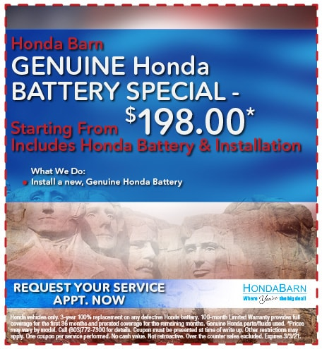 Genuine Honda Battery Special