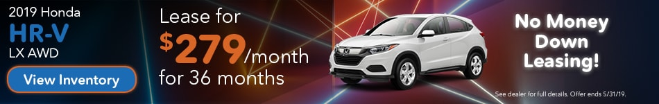 May 2019 HR-V Lease