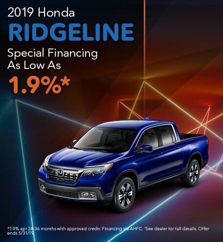 2019 Ridgeline Special Financing