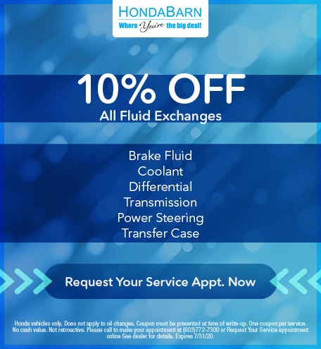 10% Off All Fluid Exchanges