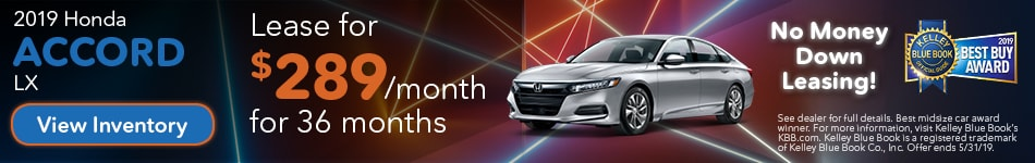 May 2019 Accord Lease