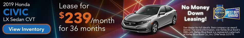 May 2019 Civic Lease