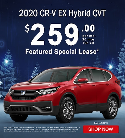 2020 CR-V Continuously Variable Transmission Hybrid EX Featured Special Lease