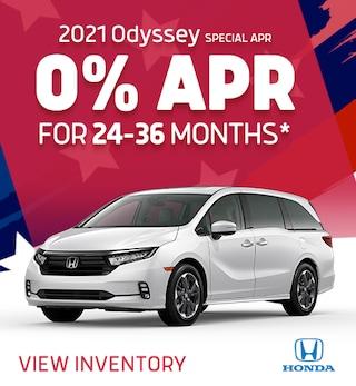 2021 Odyssey – 0% APR for 24-36 Mo