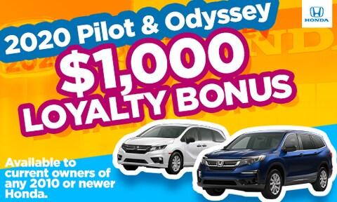 New Pilot/Odyssey Loyalty Special