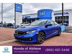 New 2019 Honda Civic Sport Manual Coupe Abilene, TX
