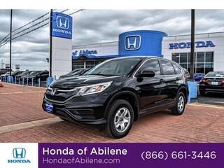 Certified Pre-Owned 2015 Honda CR-V LX AWD SUV Abilene, TX