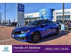 New 2019 Honda Civic Sport CVT Coupe Abilene, TX