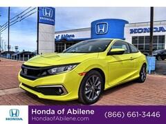 New 2019 Honda Civic EX CVT Coupe For Sale in Abilene, TX