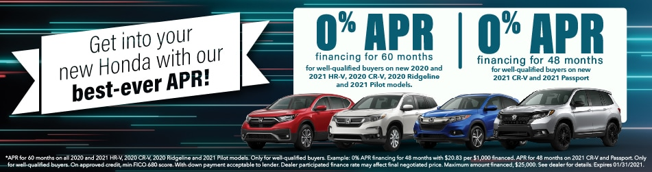 0% APR for up to 60/48 Months