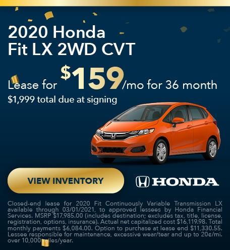 2020 Honda Fit LX 2WD CVT