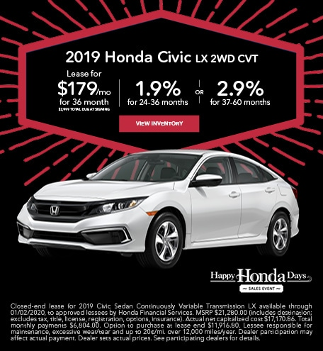 November 2019 Honda Civic LX 2WD CVT