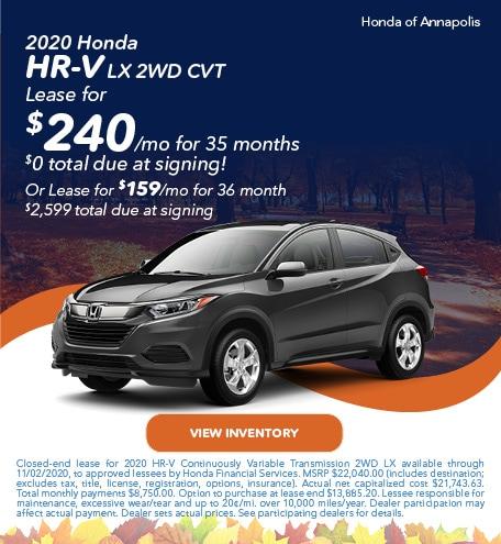2020 Honda HR-V LX 2WD CVT