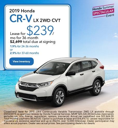 July 2019 Honda CR-V LX 2WD CVT