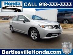 used 2014 Honda Civic LX Sedan for sale in Bartlesville