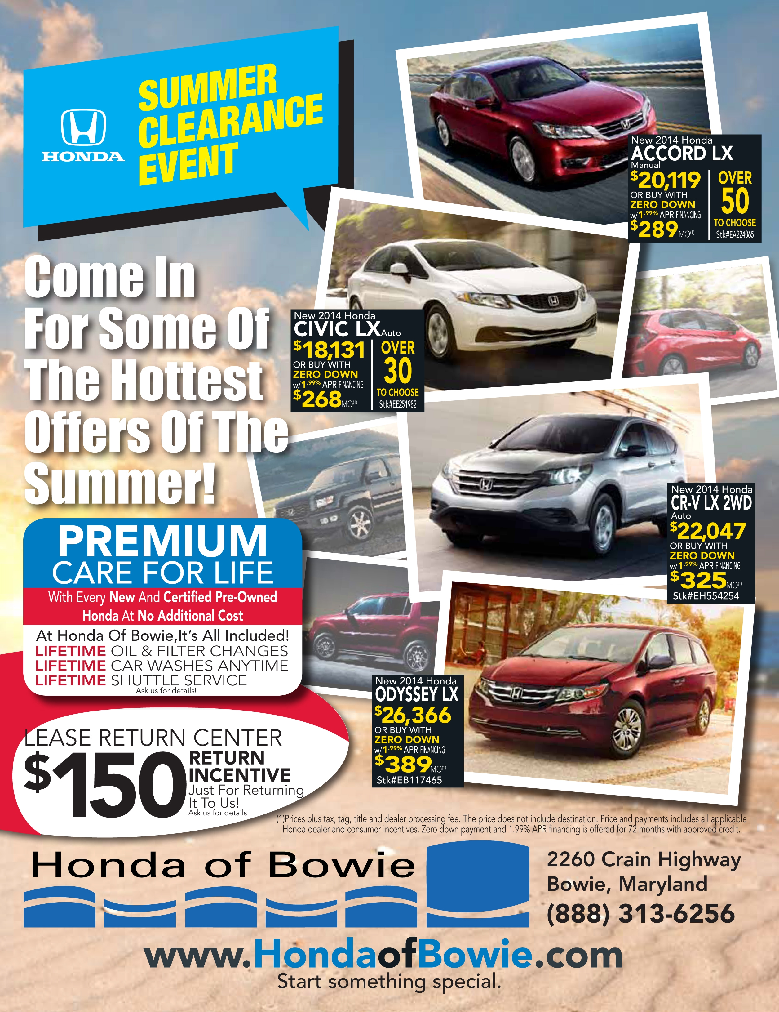 Beautiful Honda Of Bowie Summer Clearance Event