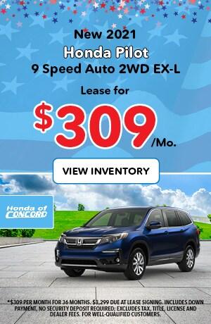 New 2021 Pilot 9 Speed Auto AWD EX-L