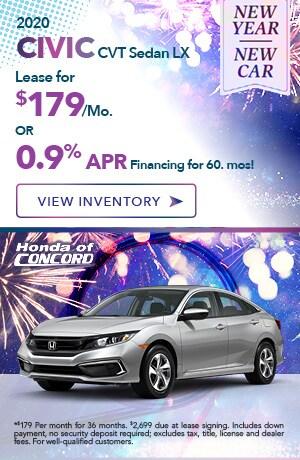 New 2020 Civic CVT Sedan