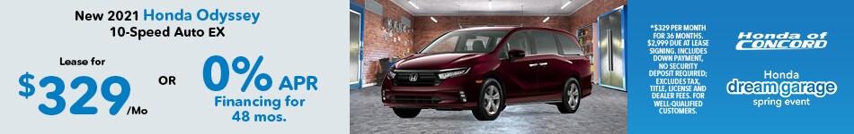 New 2021 Odyssey 10-Speed Auto EX