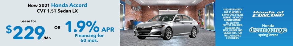 New 2021 Accord CVT Sedan