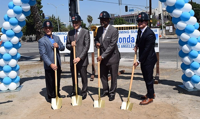 The Existing Dealership Across Figueroa Street From The Los Angeles  Convention Center Is Getting Cramped As Sales And Leases Have Topped 500  New And Used ...