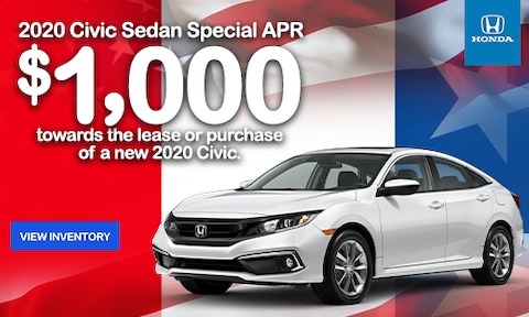 2020 Civic $1000 Loyalty Offer