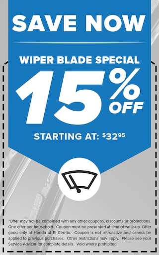 Save Now - Wiper Blade Special