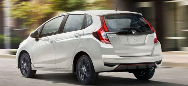 2018 Honda Fit Sport view of rear