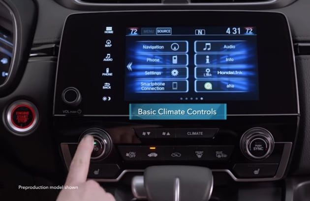 Honda CR-V climate controls