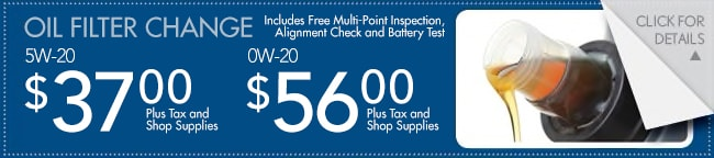 Oil Filter Change Coupon, Fort Worth
