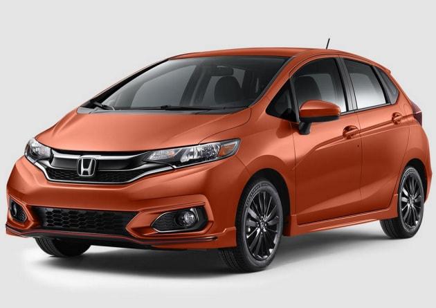 Orange Honda Fit Sport