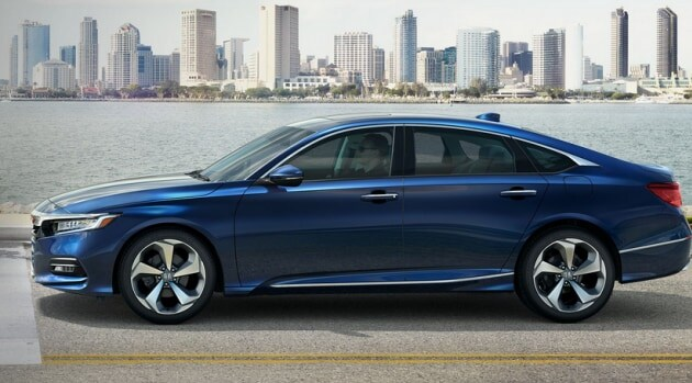 Blue 2018 Honda Accord