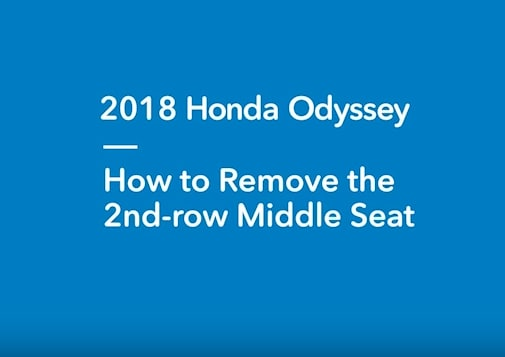 How to remove 2nd row center seat from Honda Odyssey