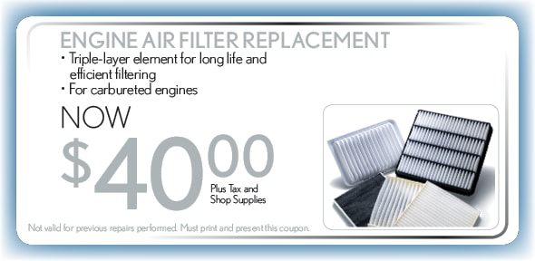 Honda Service Coupons Fort Worth >> Auto Service Coupon Engine Air Filter Honda Service Center Ft